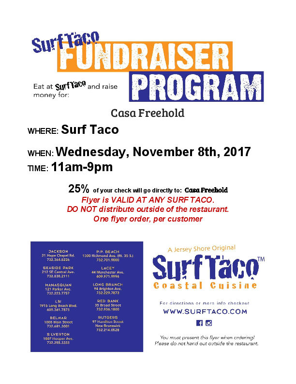 Surf Taco Flyer
